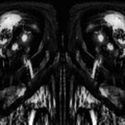 Black And White Mirror Art Print