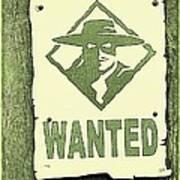 Criminal Wanted Art Print