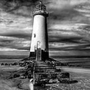 Crooked Lighthouse Art Print by Adrian Evans