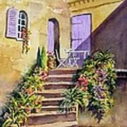 Crooked Steps And Purple Doors Art Print