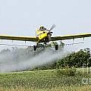 Crop Dusting Plane In Action Art Print