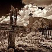 Cross At Los Golondrinas Art Print