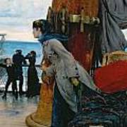 Cross Atlantic Voyage Art Print by Henry Bacon