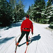 Cross-country Skiing, Lake Placid, New Art Print