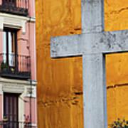 Cross In The City Of Madrid Art Print