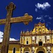 Cross Outside San Cristobal De Las Art Print