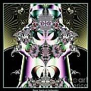 Crown And Jeweled Lotus Flowers Fractal 124 Art Print