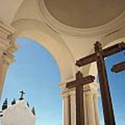 Crucifix At Basilica Of Our Lady Of Art Print