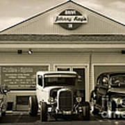 Cruise Night At Johnny Ray's Art Print by Dennis Hedberg