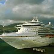 Cruise Ship In Port Art Print