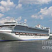 Cruise Ships At Cruiseport Boston Art Print
