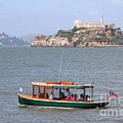 Cruizing The San Francisco Bay On The Pier 39 Boat Taxi With Alcatraz Island In The Distance.7d14322 Art Print by Wingsdomain Art and Photography