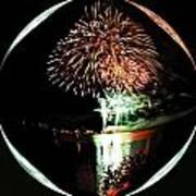 Crystal Ball Fireworks Art Print