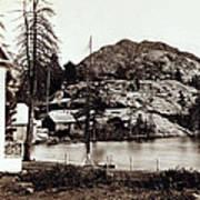 Crystal Lake And Black Butte - California - C 1865 Art Print