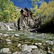 Crystal Mill In Autumn Art Print