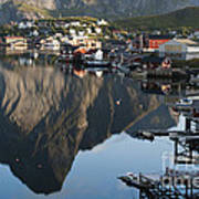 Crystal Waters At Reine Village Art Print