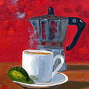 Cuban Coffee And Lime Red R62012 Art Print