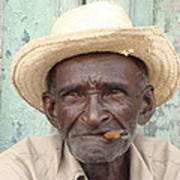 Cuba's Old Faces Art Print