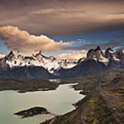 Cuernos Del Paine And Lago Pehoe Art Print
