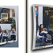 Curb Resting - Gently Cross Your Eyes And Focus On The Middle Image Art Print