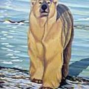 Curiosity - Polar Bear Painting Art Print