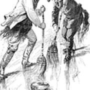 Curling Players, 1885 Art Print