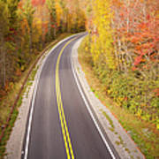 Curvy Road Blue Ridge Parkway, North Carolina Art Print by Lightvision, LLC
