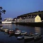 Cushendun Harbour, Co Antrim, Ireland Art Print