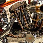 Custom Motorcycle Chopper . 7d13316 Art Print