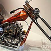 Custom Motorcycle Chopper . 7d13319 Art Print