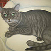 Custom Painted Cat Art Print