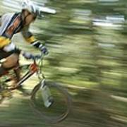 Cycling On Stoner Mesa, Colorado Art Print