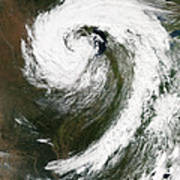 Cyclone Over Lake Michigan Art Print