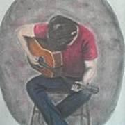 Dad And His Guitar Art Print