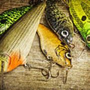 Dad's Fishing Crankbaits Art Print