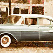 Dad's Old Car Art Print
