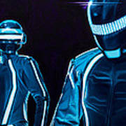 Daft Punk Art Print by Ellen Patton