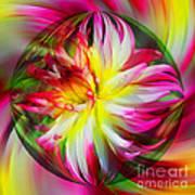 Dahlia Flower Energy Art Print