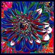 Dahlia With Intense Primaries Effect Art Print