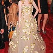 Dakota Fanning Wearing A Dress Art Print by Everett