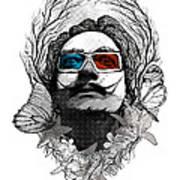 Dali In 3d Art Print
