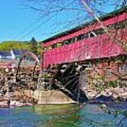 Damaged Covered Bridge Art Print