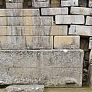 Damaged Wall, Machu Picchu, Peru Art Print