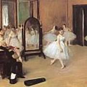 Dance Class Print by Edgar Degas
