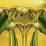 Dance Of The Yellow Calla Lilies Art Print