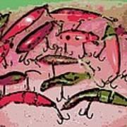 Dancing Colors Art Print