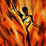 Dancing Fire Vii Art Print