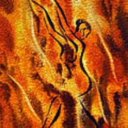 Dancing Fire Viii Art Print