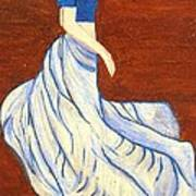 Dancing Girl -acrylic Painting Art Print by Rejeena Niaz