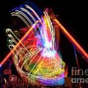 Dancing Lights  Magical Light Trails Art Print